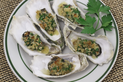 Garlic Butter Oysters. Photo by Vanda Lewis