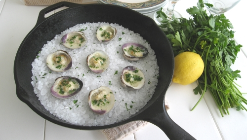 Broiled Garlic Clams. Photo by Vanda Lewis