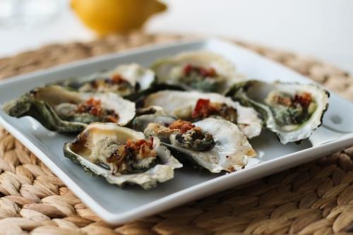 Broiled Oysters. Photo by Vanda Lewis