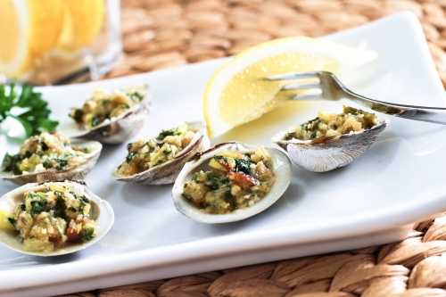 Baked Clams with Garlic Butter. Photo by Vanda Lewis