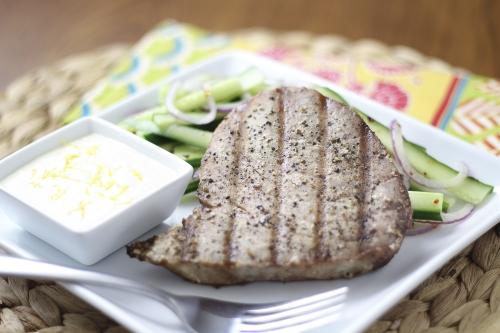 Grilled Tuna with Lemon Mayonnaise. Photo by Vanda Lewis