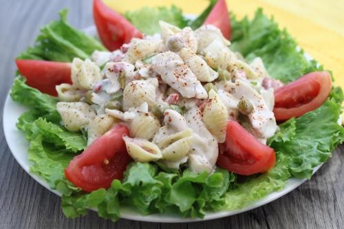 Fish Flake and Macaroni Salad. Photo by Vanda Lewis