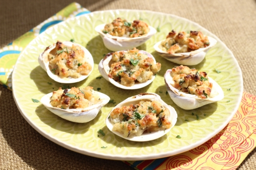 Baked Stuffed Clams. Photo by Vanda Lewis