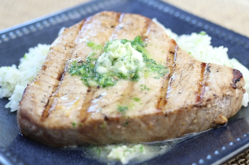 Grilled Marinated Tuna with Herb Butter. Photo by Vanda Lewis